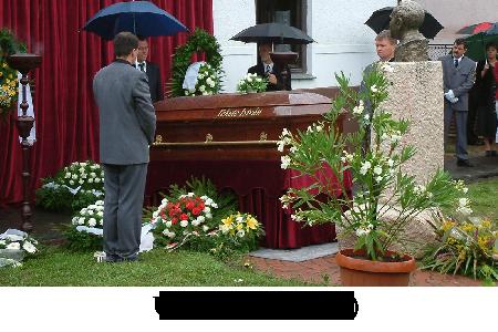 Fekete István újratemetése 2004. Gölle